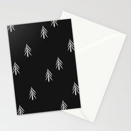 nordic fir trees Stationery Cards