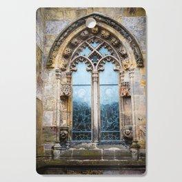 Stained glass window of Rosslyn Chapel outside Edinburgh, Scotland Cutting Board