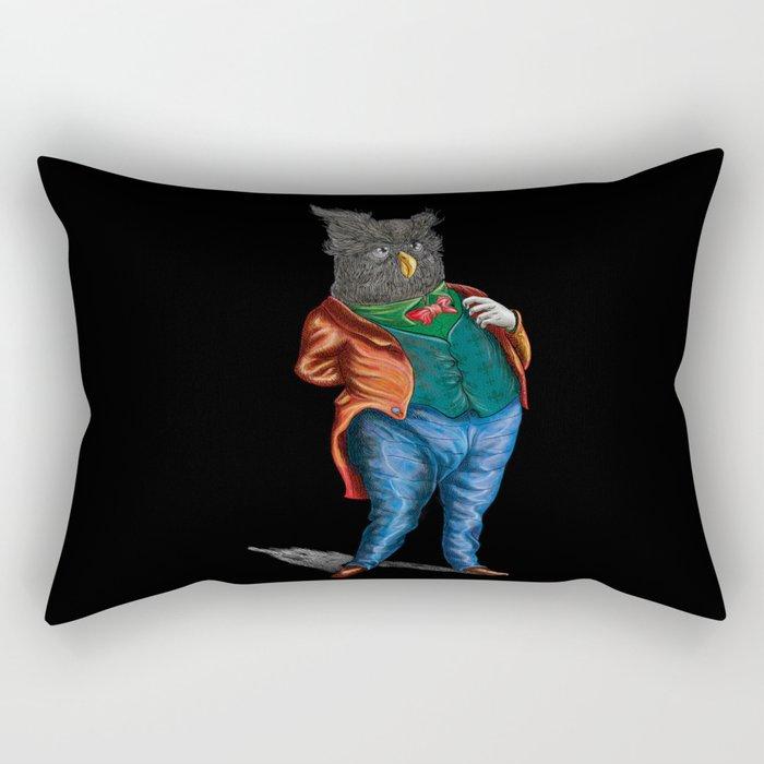 Mr Owl Rectangular Pillow