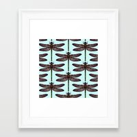 dragonfly Framed Art Prints featuring dragonfly by Sharon Turner