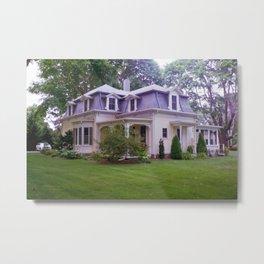 Yellow House Metal Print
