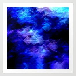 Anemone Wave Pixel Art Print
