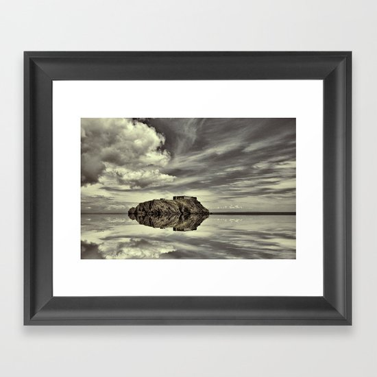 Reflections of Tenby Framed Art Print