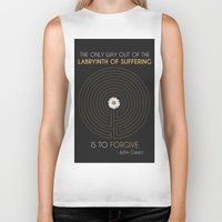 looking for alaska Biker Tanks featuring Looking For Alaska by Dani Aviles
