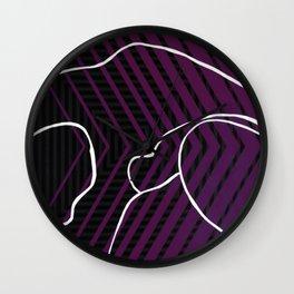 Lined - arrow Wall Clock