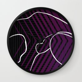 Lined - arrow Wall Clock