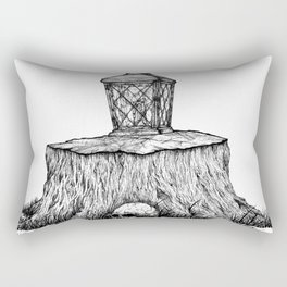 Lonely Lantern Rectangular Pillow