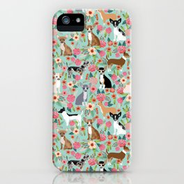 Chihuahua floral dog breed cute pet gifts for chiwawa lovers chihuahuas owners iPhone Case