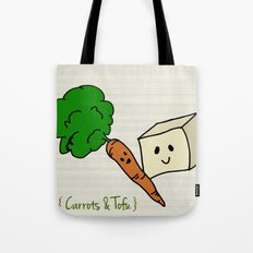 {Carrots & Tofu} Tote Bag