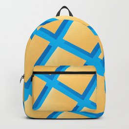 Abstract collage of sheets of colored paper Backpack
