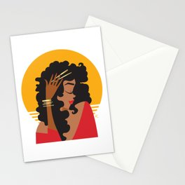 Sun Curls Stationery Cards