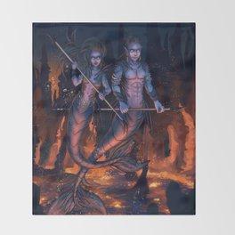 Warriors of the Deep Throw Blanket