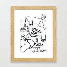 Good Listener Framed Art Print