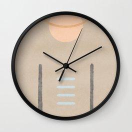 Space in between - Simple minimal earth tones Wall Clock