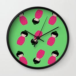 Japanese girl Wall Clock