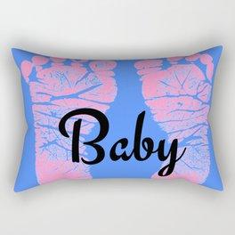 Footprint Newborn Baby By Solid Designs Rectangular Pillow