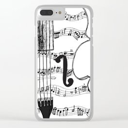 Music Notes on String Instrument Clear iPhone Case