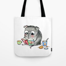 Me Time - Book Lover Pug Tote Bag