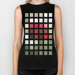 Red Rose with Light 1 Abstract Rectangles 2 Biker Tank