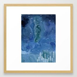 A night in Norway Framed Art Print