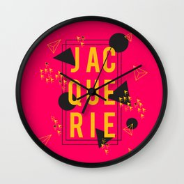 Jacquerie Pink Wall Clock