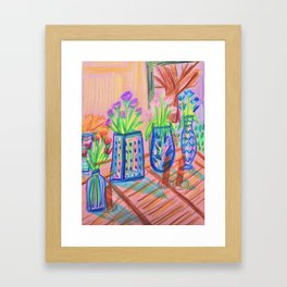 Flowers at Dawn Framed Art Print
