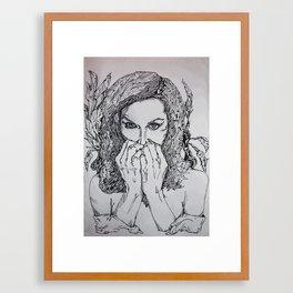 Undamaged [Black & White] Framed Art Print