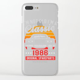 vintold 1986 Clear iPhone Case