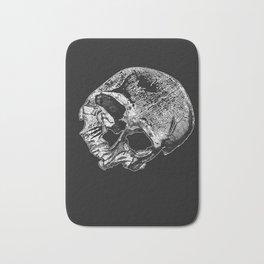 Human Skull Vintage Illustration  Bath Mat