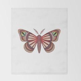 demon (made up moth) Throw Blanket