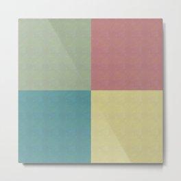 Foursquares Color Forms Metal Print