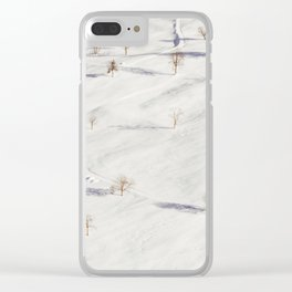 White Winterscapes I Clear iPhone Case