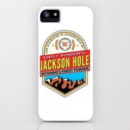 Skiing Jackson Hole Wyoming iPhone Case