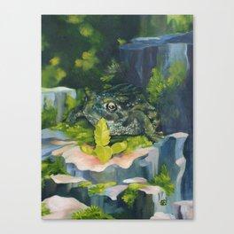 Frog & Seedling Canvas Print