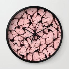 Pink Butterflies Wall Clock