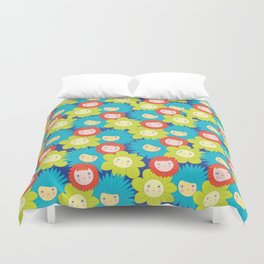Happy Flowers Duvet Cover