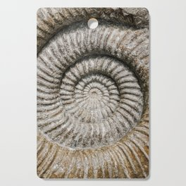 Ammonite Spiral Fossil Cutting Board