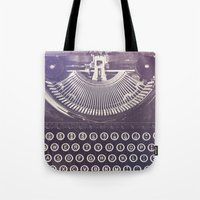 typewriter Tote Bags featuring Typewriter by Jessica Torres Photography
