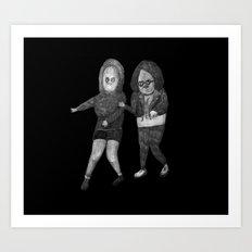 Zombies in my backyard: Ghost World Art Print
