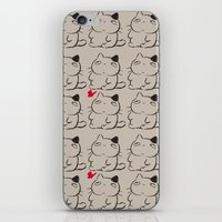 calcifer iPhone & iPod Skins featuring cats II by ururuty