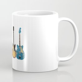 Four Electric Guitars Coffee Mug