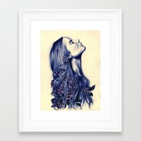 calm Framed Art Prints featuring Bloom by KatePowellArt