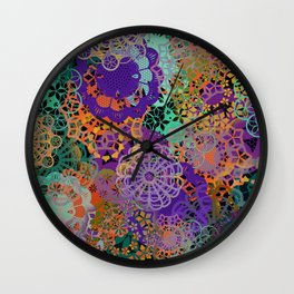 CHEERFUL FLORAL PATTERN I Wall Clock