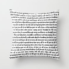 All of me song Throw Pillow