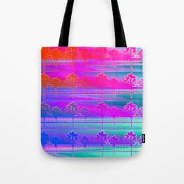 Tropical Beach Pattern (purple and turquoise) Tote Bag