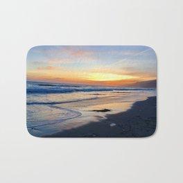 Beach Sunset Love Bath Mat