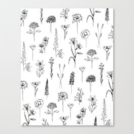 Patagonian wildflowers white Canvas Print
