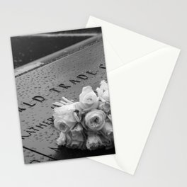 White Roses at the WTC Memorial Stationery Cards