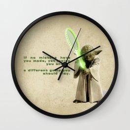 Yoda Squasher  Wall Clock