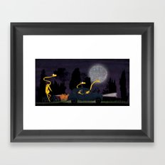 Voyage by night II (animal party) Framed Art Print